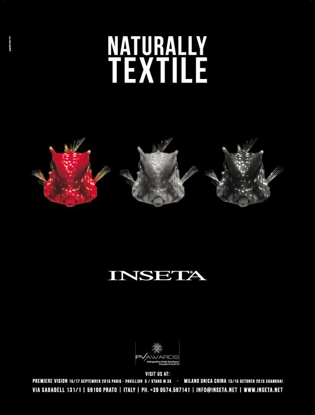 Advertising Inseta Naturally Textile