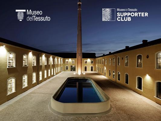 Inseta support del museo del tessuto